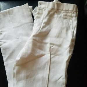 Ralph Lauren white linen pants